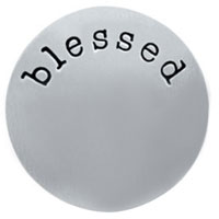 Jewelry Large Silver Tone Blessed Plate For Memory Living Locket
