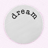 Jewelry Large Silver Tone Dream Plate For Memory Living Locket