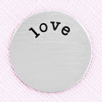 Jewelry Large Silver Tone Love Plate For Memory Living Locket Charm