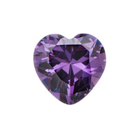 February Amethyst Heart Birthstone Floating Charms Fit Living Memory Locket