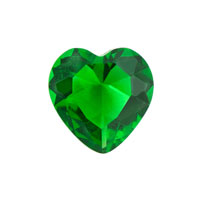 May Heart Birthstone Emerald Floating Charms For Living Memory Locket
