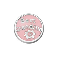 Jewelry Floating Memory Living Locket Pink Best Grandma Round Charms