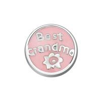 Jewelry Floating Memory Living Locket Pink Best Grandma Round Charms