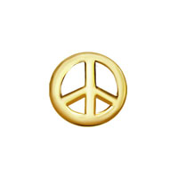 Charms Peace Sign Golden Tone Floating Charms Fit Living Memory Locket