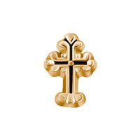 Charms Gold Vintage Cross Floating Charms For Living Memory Locket