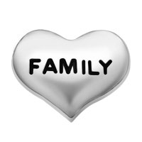 Jewelry Floating Memory Living Locket Charms Silver P Family Heart Shape