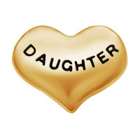 Jewelry Floating Memroy Living Locket Charms Golden Heart Love Daughter