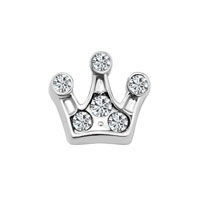 Crystal Crown Clear Birthstone Floating Charms