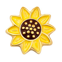 Charms Sunflower Yellow Floating Charms For Living Memory Locket