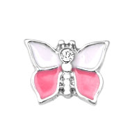 Red Pink Butterfly Floating Charms Fit Memorial Living Locket