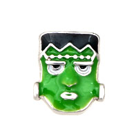 Green Mask Floating Charms Fit Memorial Living Locket