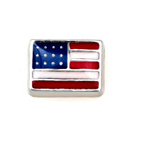 American Flag Floating Charms Fit Memorial Living Locket