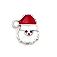 Red Hat White Father Christmas Floating Charms Fit Memorial Living Locket