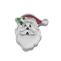 Red Hat Green Flower Father Christmas Floating Charms Fit Memorial Living Locket