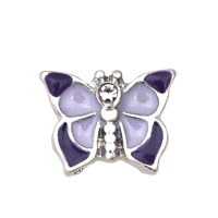 Pink Purple Butterfly Floating Charms Fit Memorial Living Locket