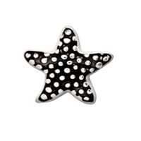 Charms Black Silver Dots Starfish Floating Charms For Living Memory Locket