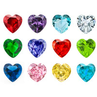 Sale New 12 Pc Crystal Heart Birthstones Floating Locket Charms 5 Mm For Living Memory Lockets Necklace Bracelets