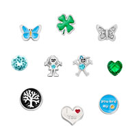 New 10 Pcs Butterfly Floating Charms For Glass Living Memory Lockets Necklace Bracelets