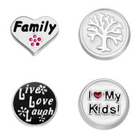 4 Pcs Family Tree Live Love Laugh I Love My Kids Floating Charms For Living Memory Locket