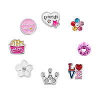 New 10 Pcs Friend Happy Birthday Floating Charms For Glass Living Memory Lockets Necklace Bracelets
