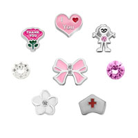Sale New 8 Pcs I Love You Nurse Floating Charms For Glass Living Memory Lockets Necklace Bracelets