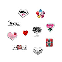 Family Floating Charms For Glass Living Memory Lockets Necklace Bracelets