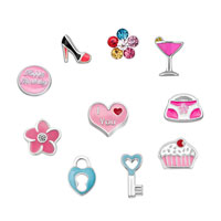 Happy Birthday Floating Charms For Glass Living Memory Lockets Necklace Bracelets