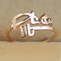 New Fashion Cool Scorpio Ladies Ring Constellation Open Rose Gold Adjustable Rings