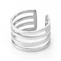Vimtage Fashion Womens Titanium Steel Open Knuckle Ring Adjustable Ring