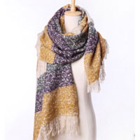 Womens Winter Fall Ladies Knit Wool Scarf Yellow Long Wrap Neck Shawl Scarves