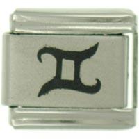 Gemini Symbol Birthstones Jewelry Italian Charm Laser Italian Charm