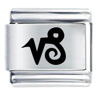 Capricorn Symbol Birthstones Jewelry Italian Charm Laser Italian Charm