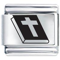 Bracelet Holy Bible Christian Italian Charm Laser Italian Charm