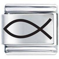 Bracelet Bold Laser Christian Fish Gift Italian Charm Laser Italian Charm