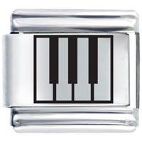 Laser Piano Keys Hobbies Professions Italian Charms Laser Italian Charm