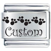Custom Feet Gift Ideas Italian Charm Laser Italian Charm
