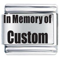 Memory Custom Gift Italian Charm Laser Italian Charm