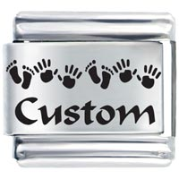 Custom Hand Foot Gift Ideas Italian Charm Laser Italian Charm