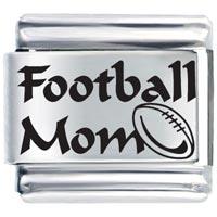 Football Mom Gift Italian Charm Laser Italian Charm
