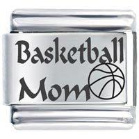 Art Font Basketball Mom Italian Charms Laser Italian Charm
