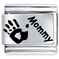 Hand Print Mommy Gift Italian Charm Laser Italian Charm