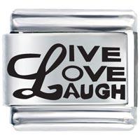 L Live Love Laugh Italian Charm Bracelet Laser Italian Charm