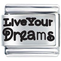Art Font Live Dreams Italian Charms Laser Italian Charm