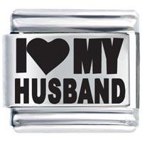 Laser I Heart Husband Italian Charm Bracelet Laser Italian Charm