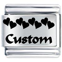 Heart Custom Italian Charm Bracelet Laser Italian Charm