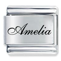 Edwardian Script Font Name Amelia Italian Charms Laser Italian Charm