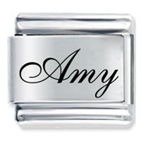 Edwardian Script Font Name Amy Italian Charms Laser Italian Charm