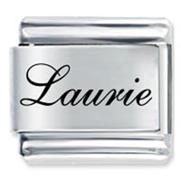 Edwardian Script Font Name Laurie Laser Italian Charms Name Italian Charms