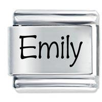 Name Emily Italian Charms Laser Italian Charm