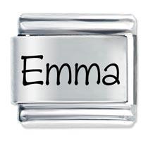 Name Emma Italian Charms Laser Italian Charm